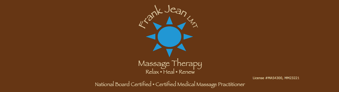 Frank Jean LMT • National Board Certified • Certified Medical Massage Practitioner